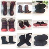 3 PAIR Children Size 5 Shoes & Boots; Pink & Black in Fort Lewis, Washington