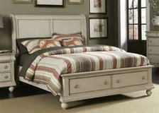 New King Bed with (2) Matching Night Chests in Charlottesville, Virginia