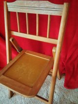 vintage babee tenda child wooden folding chair in Glendale Heights, Illinois