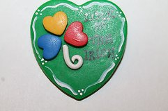 "NWT ~~ Handmade ""Luck of the Irish"" Heart Shaped Pin, Retail $12 in Bolingbrook, Illinois"
