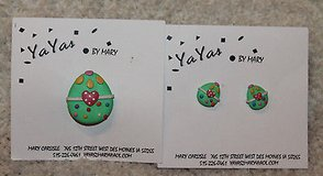 NWT Matching Easter Egg Pin & Pierced Earrings, Ya Yas by Mary, Retail $22 in Bolingbrook, Illinois