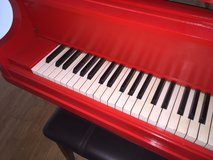 1861 wegman new york baby grand piano professionally painted red & tuned perfect in Fort Carson, Colorado