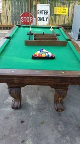 MD Sports pool table with accessories in Pasadena, Texas