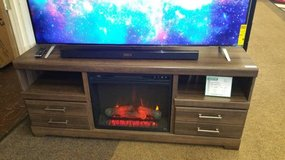RUSTIC FIREPLACE/TV STAND BY ASHLEY in Honolulu, Hawaii