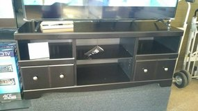 BLACK ENTERTAINMENT CENTER/TV STAND in Schofield Barracks, Hawaii