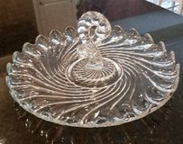 Vintage Fostoria Clear Glass Tray with Center Handle in Naperville, Illinois