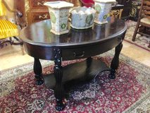 Unique Antique Library Table with pullout drawer in Vacaville, California