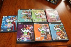 Sims 2, Seven Game Lot - All Complete in Kingwood, Texas