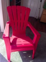 Red lawn chair in Roseville, California