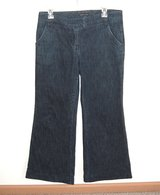 New York & Company Wide Leg Flare Jeans Womens 6 x 29 Stretch Flap Pockets in Chicago, Illinois