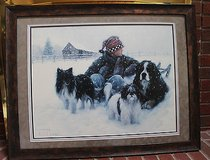 Boy's Best Friends, Dogs, Robert Duncan Art Print Framed, 33 x 26 Inches in Naperville, Illinois