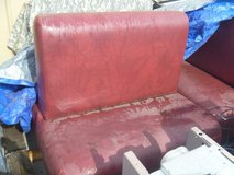 used double sided 1 single restaurant booth seating heavy duty red leather 80304 in Huntington Beach, California