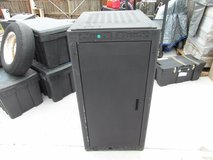 middle atlantic black power coated server cabinet model wrk-24sa-32 32070 in Huntington Beach, California
