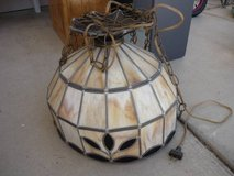 TIFFANY-LEADED GLASS STYLE-HANGING SWAG LAMP in Yucca Valley, California