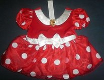 New disney store minnie mouse red white polka dot costume dress infant 6-12 months in Batavia, Illinois