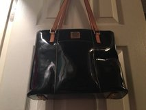 Dooney Bourke Black patent leather purse tote in Fort Riley, Kansas