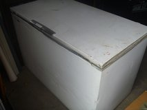 very well used montgomery ward signature 18 cu. ft. chest freezer - white 80358 in Huntington Beach, California