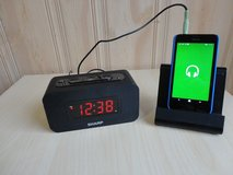 SHARP 9'' Big Digital Alarm Clock with Bluetooth Speaker ,3.5mm,Easy To Use. in Plainfield, Illinois