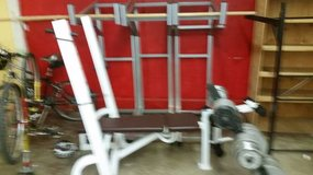 Steel 1400lb pound weight set all in Fort Lewis, Washington