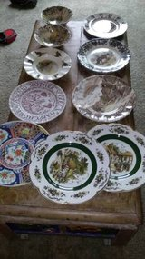 10 collectible vintage antique plates bowl in Travis AFB, California