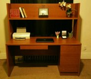 Desk w/Hutch & File Cabinet Drawers in Fort Lewis, Washington