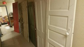 Antique Solid Wood Doors with Hardware. 6 available in DeKalb, Illinois