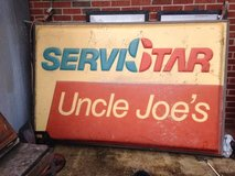 Vintage Uncle Joes Servistar Double Sided Sign in Dover, Tennessee