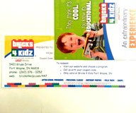 bricks for kidz $50 gift certificate - ft. wayne, in. location - kids - no tax in Fort Wayne, Indiana