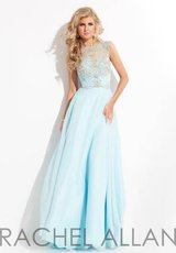 Sz 8 Worn once - Rachel Allan Blue Formal Pageant / Prom Dress in Bolingbrook, Illinois