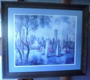 Wood Framed Matted Watercolor Painting Alex Yaworski Art in Joliet, Illinois