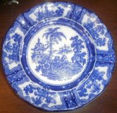 William Adams Kyber Flow Blue English China Decorative Dinner Antique 1890s in Naperville, Illinois