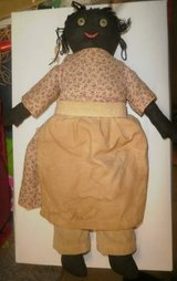 Vintage handmade Black African American Baby Doll Cloth Folk Art in Glendale Heights, Illinois
