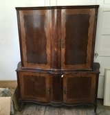 Antique dresser china cabinet high boy style, tall, hi boy, hatch, in Camp Lejeune, North Carolina