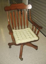 VINTAGE AMISH SOLID OAK SWIVEL DESK CHAIR in Joliet, Illinois