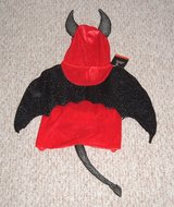 NEW Red Black Sequin DEVIL Pet Costume Large Cat Dog Clothes Halloween Unisex in Morris, Illinois