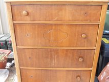 vintage / antique  wooden dresser  4 drawer sturdy. see pics for details 60293 in Huntington Beach, California