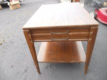 vintage antique mersman wood bed side end accent table drawer shelf 60322 in Fort Carson, Colorado