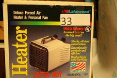 33Lakewood Deluxe Forced Air Heater and Personal Fan 1500 Watts, Mode in Tampa, Florida