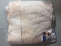 NEW breathable lumbar support brace belt lower back pain relief large beige new in Houston, Texas