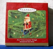 "NEW In Box 2000 Hallmark Kris ""Cross-Country"" Kringle Keepsake Christmas Ornament Santa Skiing in Joliet, Illinois"