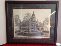 Vintage Montgomery County Courthouse 1993 signed print PRE TORNADO in Dover, Tennessee