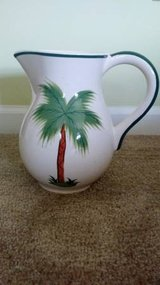 Decorative Pitcher  - Hand painted Palm tree - New in Beaufort, South Carolina
