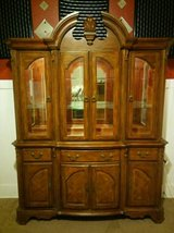 Stunning China Cabinet w/Glass-Box Design & Lighting by Jaclyn Smith in Fort Lewis, Washington