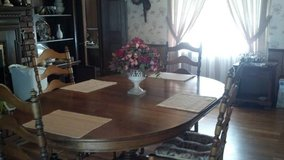 Oblong Dinning Table & Four Ladder Back Chairs in Fort Rucker, Alabama