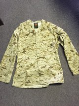 usmc med/long desert bdu marpat blouse shirt mccuu insect repellant in 29 Palms, California