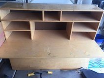 Large Wooden Desk/Organizer in Davis-Monthan AFB, Arizona
