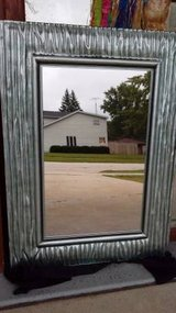 Mirror with Aqua Glass Frame in Naperville, Illinois