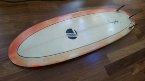 """USED SURFBOARD 6'10-long-x-22""""-wide-x-2 3/4""""-thick surf board in Camp Pendleton, California"""