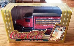 Ertl Red Drink Delicious Coca-Cola in Bottles Coke Delivery Truck Die-Cast Bank in Chicago, Illinois