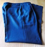 Men's 34 Solid Navy Pleated Front Cotton Dress Pants/Trousers in Chicago, Illinois